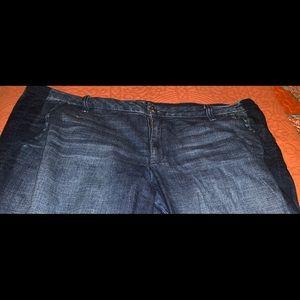 Jeans with dark navy stripes size 20